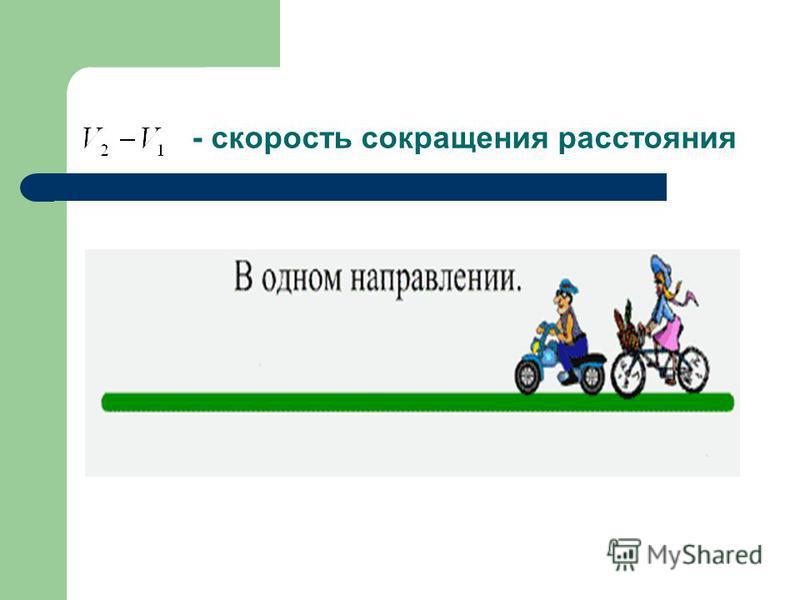 - скорость сокращения расстояния