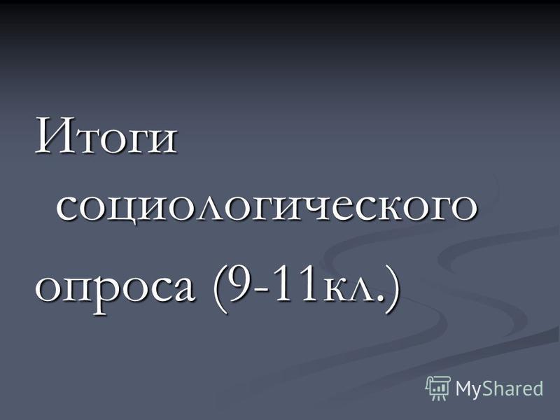 Итоги социологического опроса (9-11 кл.)
