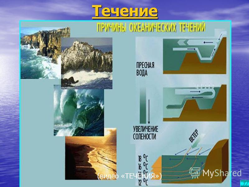 В В В В В ооо лол инн ыыыы в океане Волны на поверхности океана образуются под действием ветра. Его порывы как бы вдавливают поверхность океана, образуя волны высотой 4-6 м, а самые высокие – до 30 м. На глубине 200 м и более даже сильное волнение не