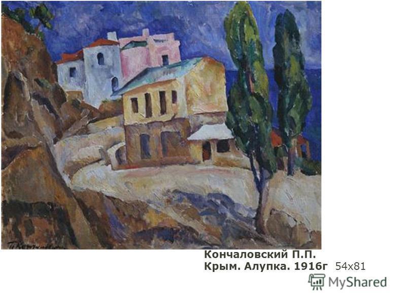 Кончаловский П.П. Крым. Алупка. 1916 г 54 х 81