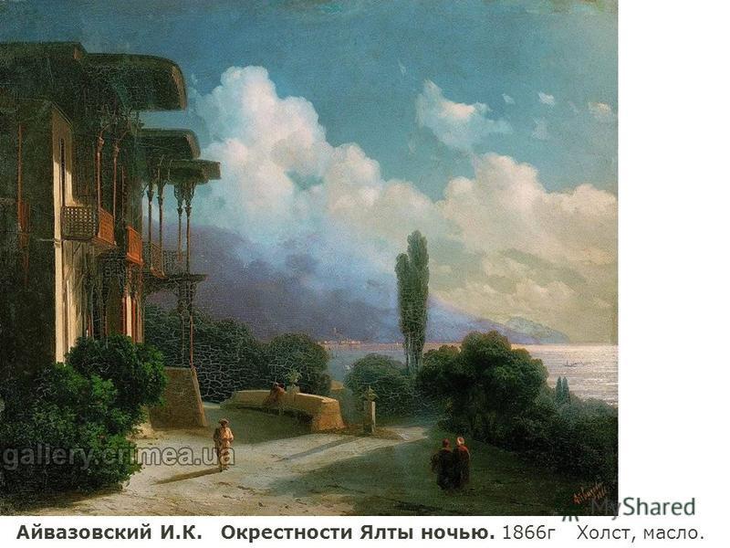 Айвазовский И.К. Окрестности Ялты ночью. 1866 г Холст, масло.