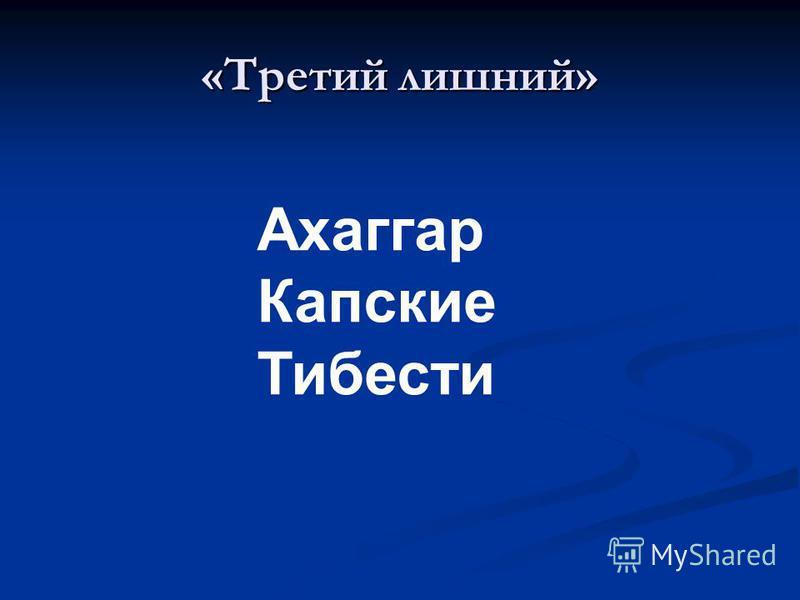 «Третий лишний» Ахаггар Капские Тибести