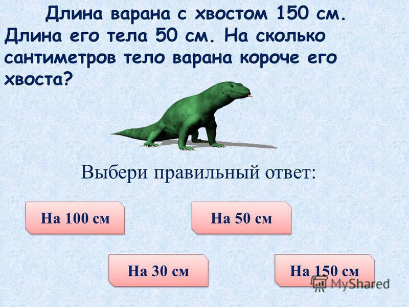У бегемота нижние клыки достигают длины 50 см. Сколько это дециметров? Выбери правильный ответ: 3 дм 15 дм 500 дм 5 дм