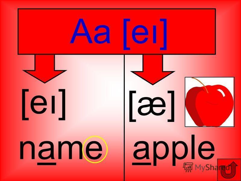 Aa [eı] [eı] name [æ] apple