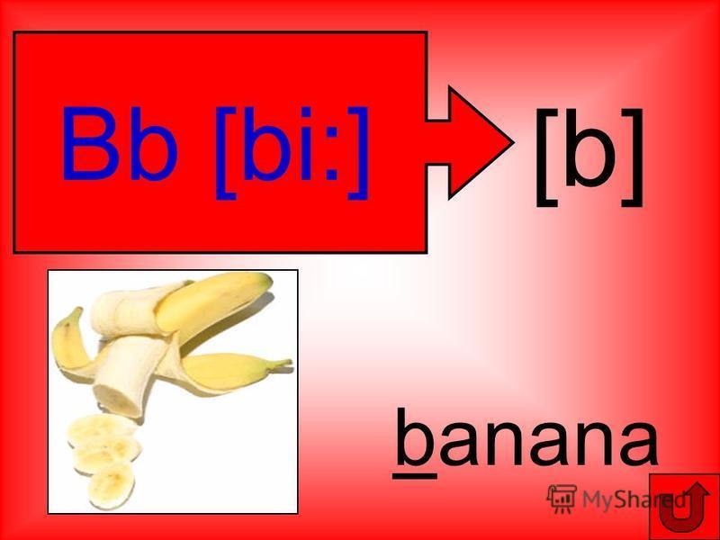 [b] Bb [bi:] banana