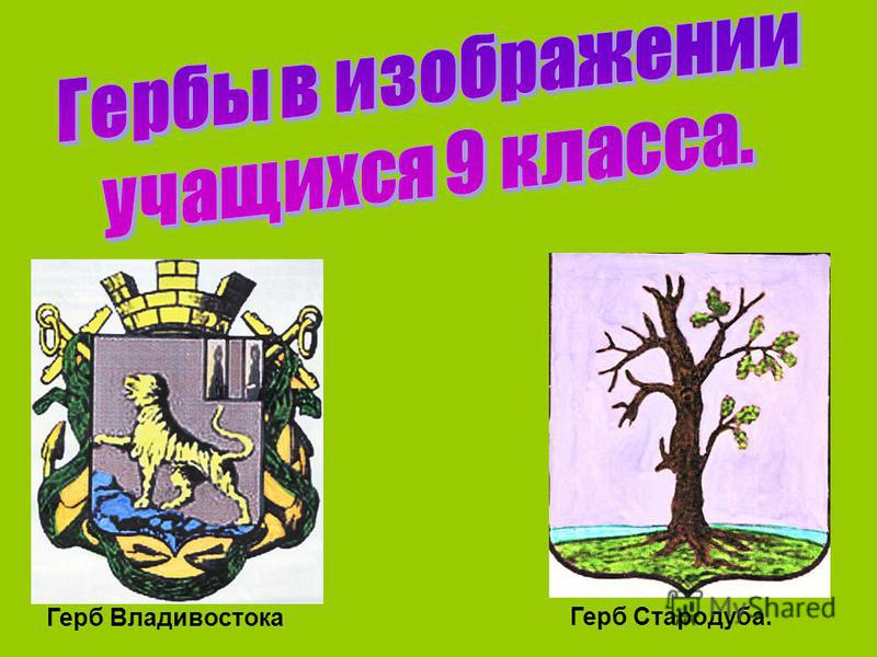Герб Владивостока Герб Стародуба.