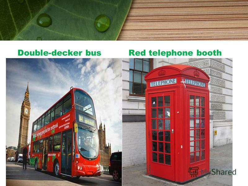 Double-decker busRed telephone booth