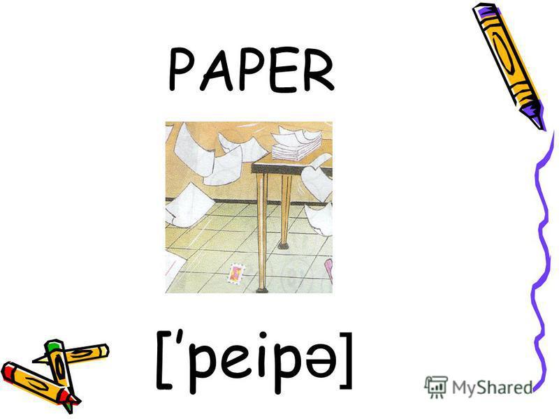 PAPER [peip ə]