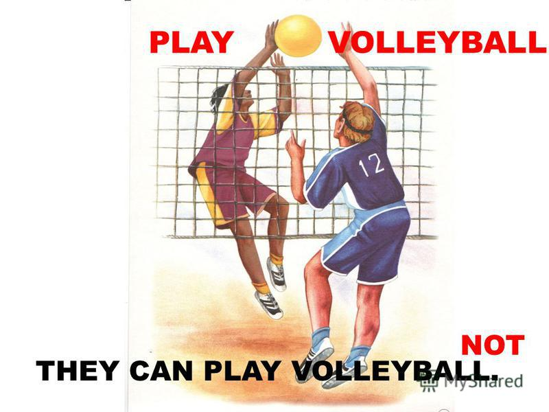 PLAY VOLLEYBALL THEY CAN PLAY VOLLEYBALL. NOT