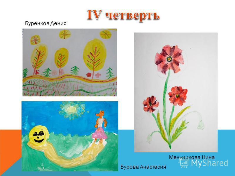 Мельникова Нина Буренков Денис Бурова Анастасия