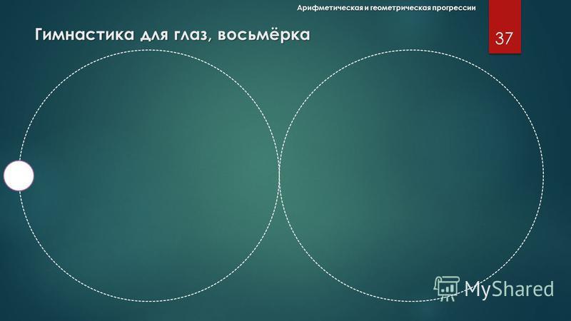 36 Арифметическая и геометрическая прогрессии Гимнастика для глаз, овал