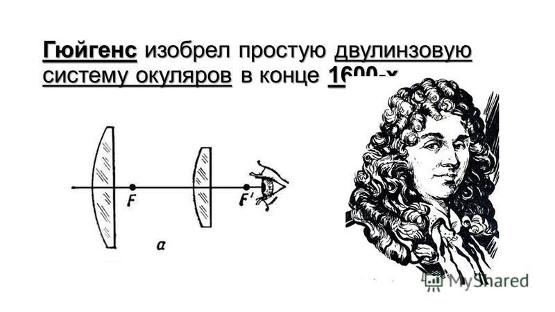 Гюйгенс изобрел простую двухлинзовую систему окуляров в конце 1600-х.
