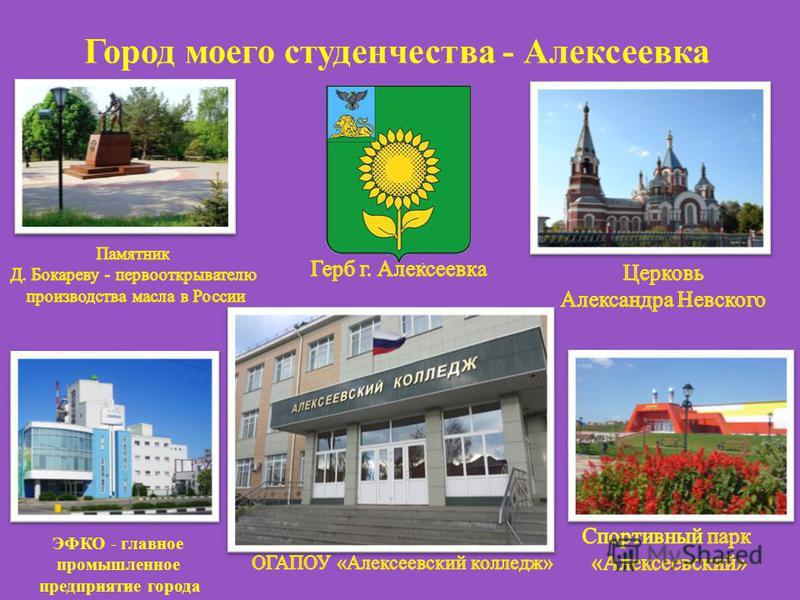 Город моего студенчества - Алексеевка ЭФКО - главное промышленное предприятие города