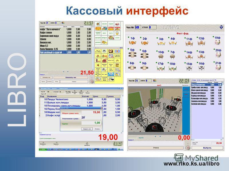 Кассовый интерфейс LIBRO www.riko.ks.ua/libro
