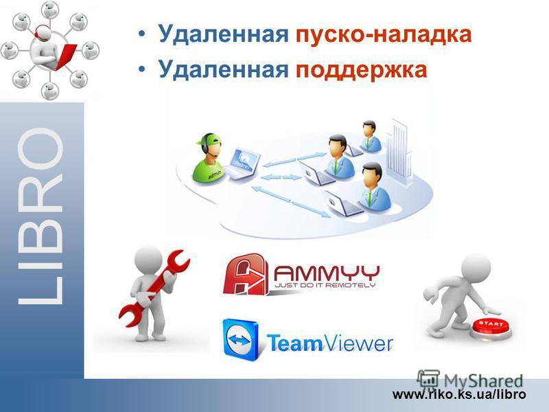 LIBRO www.riko.ks.ua/libro Удаленная пуско-наладка Удаленная поддержка