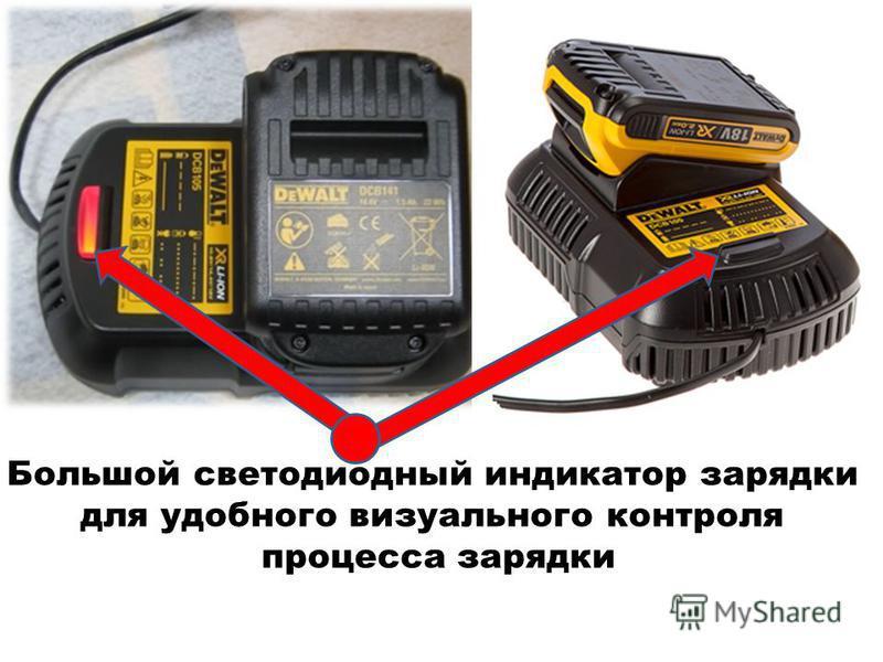Большой светодиодный индикатор зарядки для удобного визуального контроля процесса зарядки