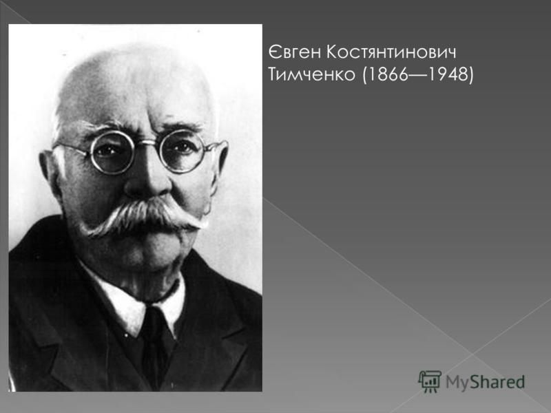 Євген Костянтинович Тимченко (18661948)