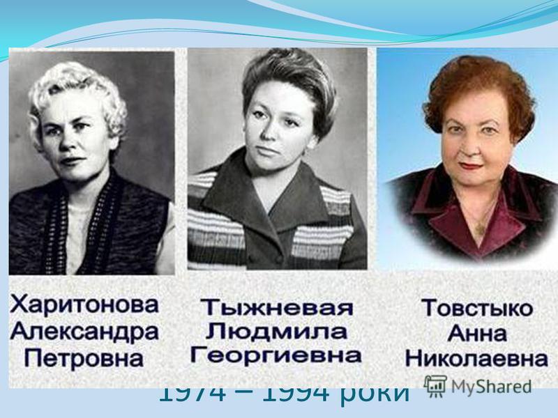 Директори школи з 1974 – 1994 роки