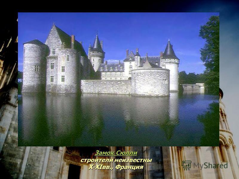 Замок Сюлли Замок Сюлли строители неизвестны X-XIвв., Франция Замок Сюлли