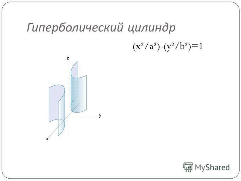Гиперболический цилиндр (x²/a²)-(y²/b²)=1