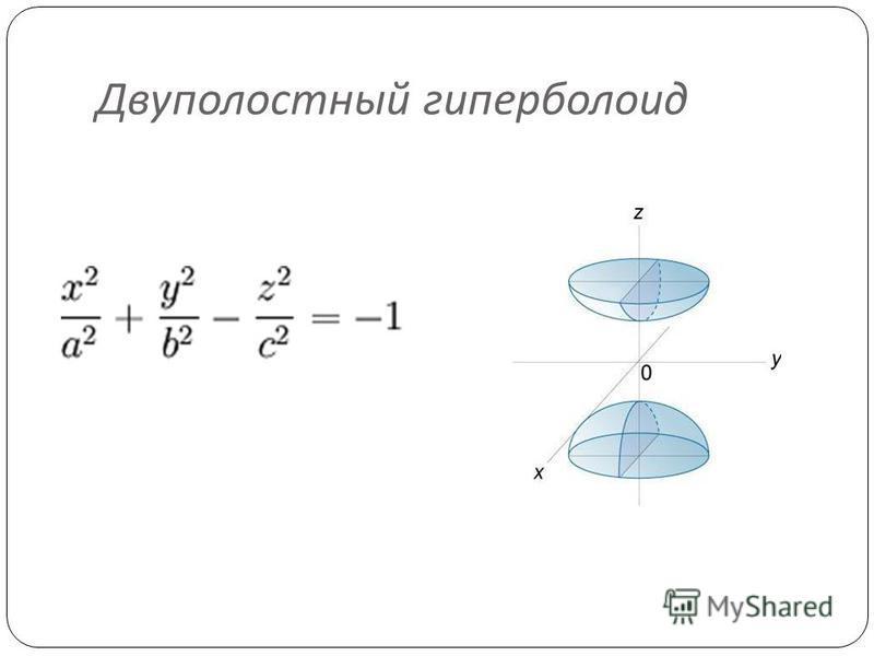 Двуполостный гиперболоид
