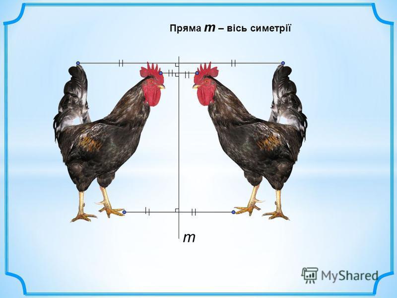 Пряма m – вісь симетрії m