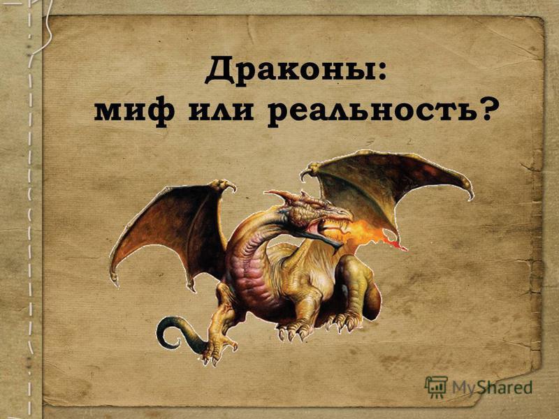 Драконы: миф или реальность?