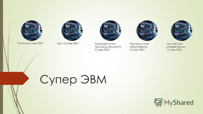 Супер ЭВМ Понятие Супер ЭВМ Цели Супер ЭВМ Характеристики производительности Супер ЭВМ Программное обеспечение Супер ЭВМ Архитектура современных Супер ЭВМ