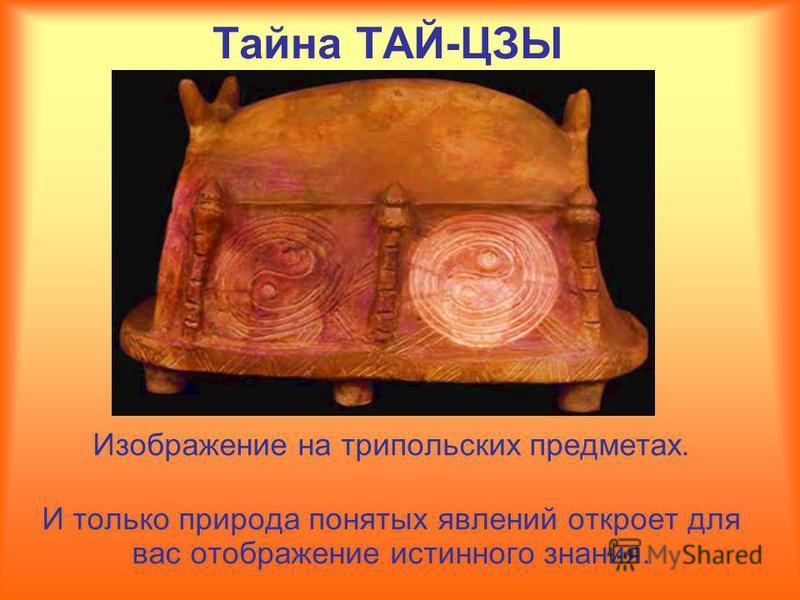 Изображение на трипольских предметах. И только природа понятых явлений откроет для вас отображение истинного знания.