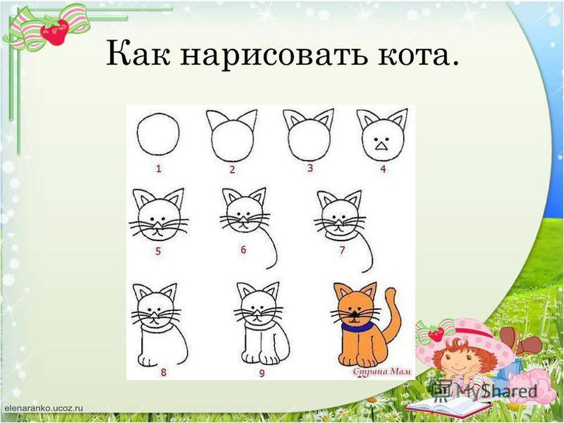 Как нарисовать кота.
