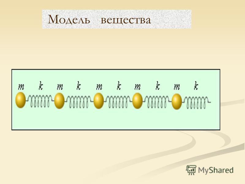 Модель вещества