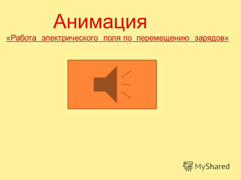 5. Работа электрического поля по перемещению зарядов. Разность потенциалов или напряжение.