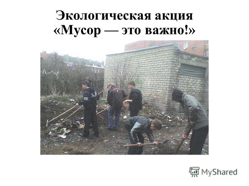 Экологическая акция «Мусор это важно!»