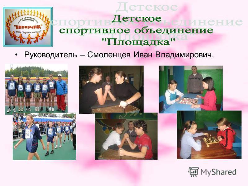 Руководитель – Смоленцев Иван Владимирович.