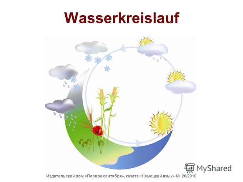 Wasserkreislauf Издательский дом «Первое сентября», газета «Немецкий язык» 20/2010
