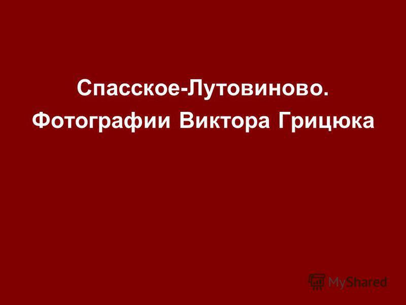 Спасское-Лутовиново. Фотографии Виктора Грицюка