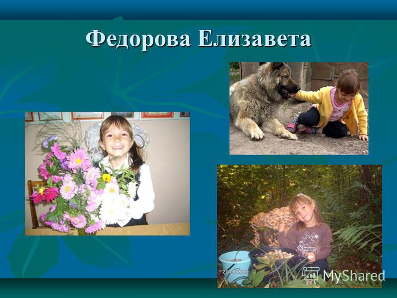 Федорова Елизавета