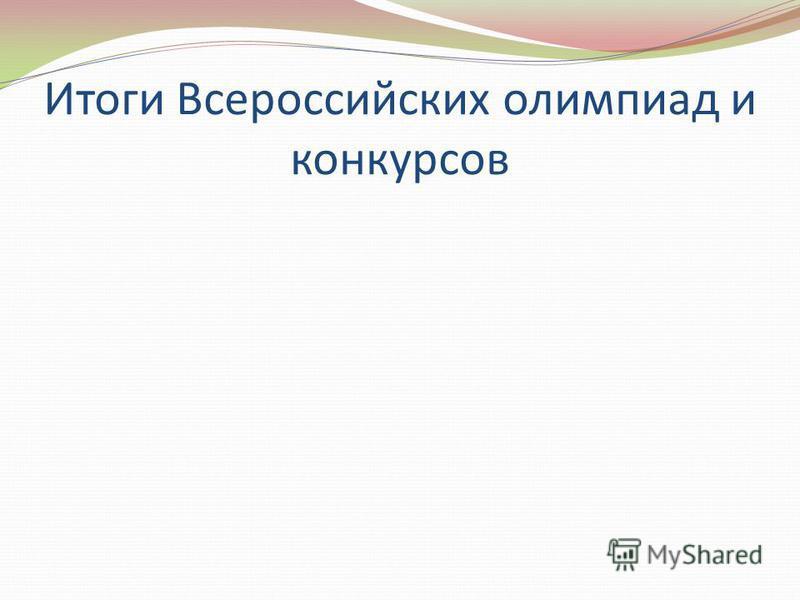 Итоги Всероссийских олимпиад и конкурсов