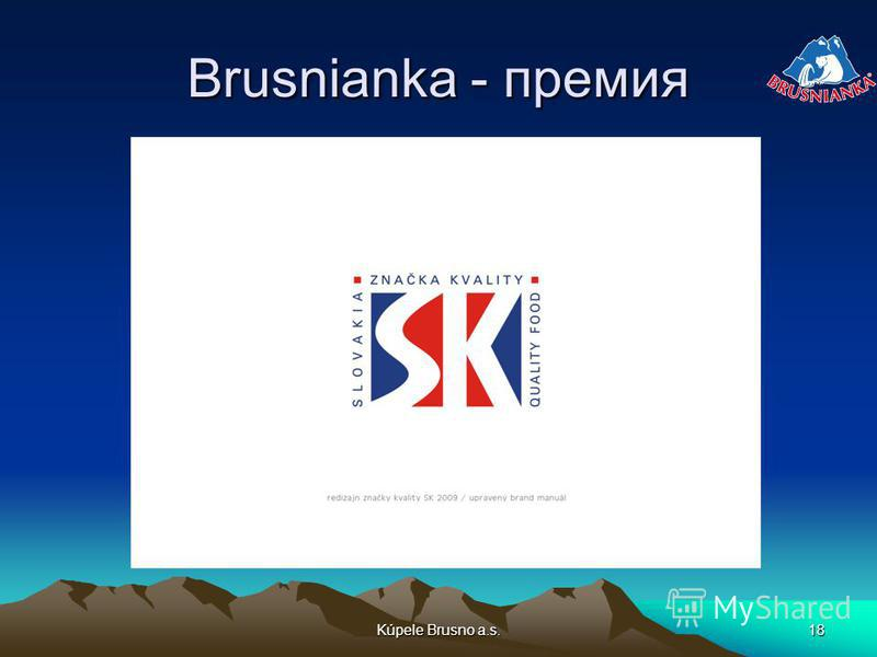 Kúpele Brusno a.s.18 Brusnianka - премия