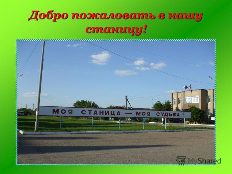 Добро пожаловать в нашу станицу!