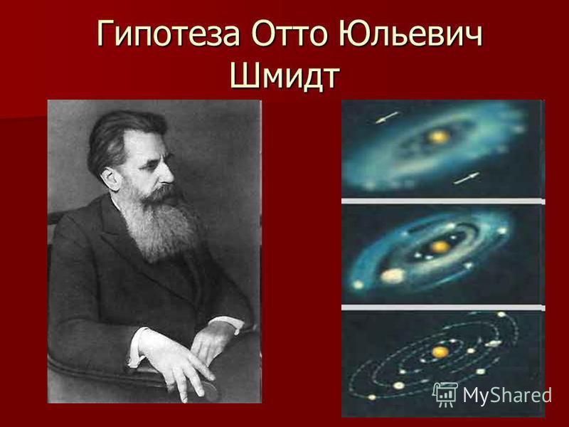 Гипотеза Отто Юльевич Шмидт Гипотеза Отто Юльевич Шмидт