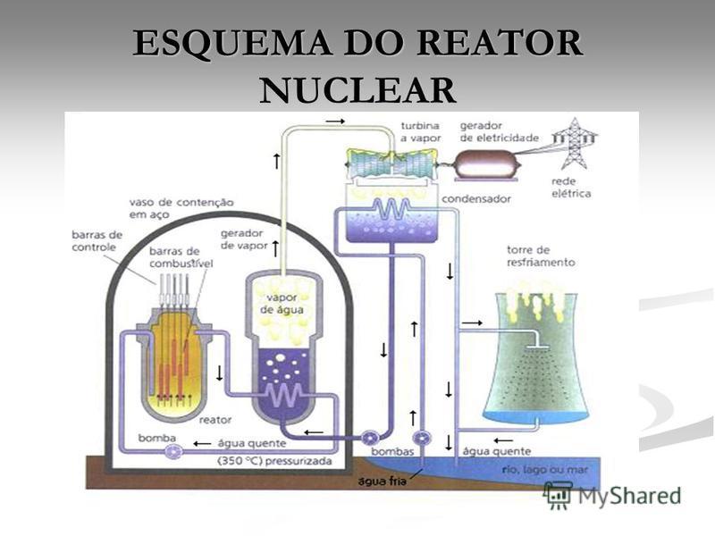 ESQUEMA DO REATOR NUCLEAR