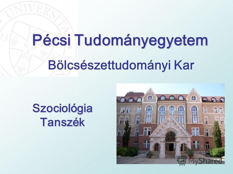 Pécsi Tudományegyetem Szociológia Tanszék Bölcsészettudományi Kar