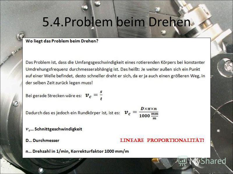 5.4.Problem beim Drehen