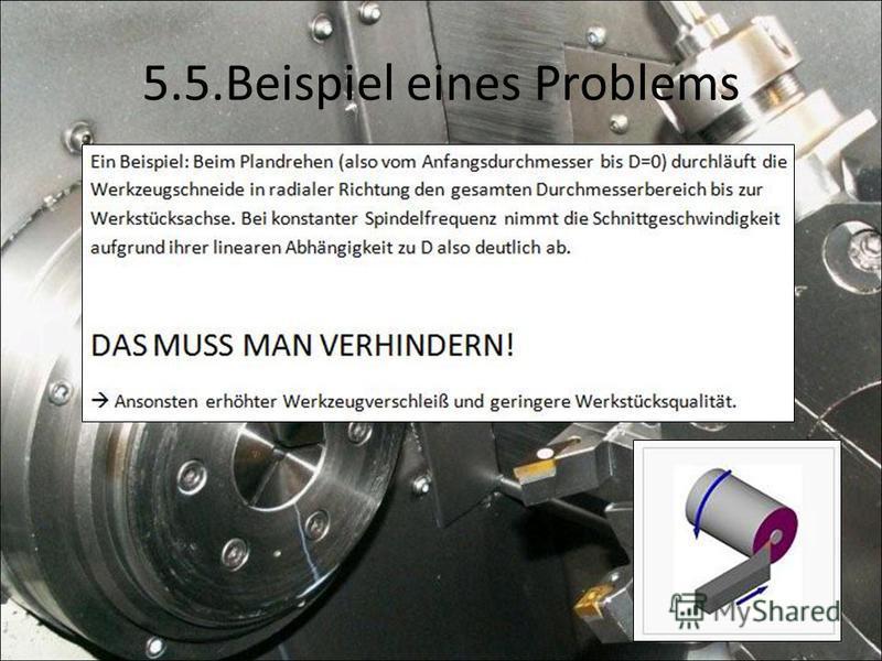 5.5.Beispiel eines Problems