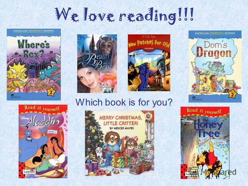 We love reading!!! Which book is for you?