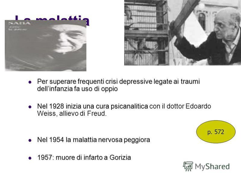 La malattia Per superare frequenti crisi depressive legate ai traumi dellinfanzia fa uso di oppio Per superare frequenti crisi depressive legate ai traumi dellinfanzia fa uso di oppio Nel 1928 inizia una cura psicanalitica Nel 1928 inizia una cura ps