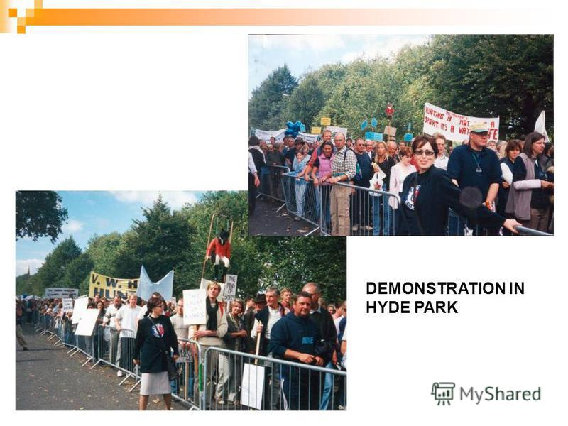 DEMONSTRATION IN HYDE PARK