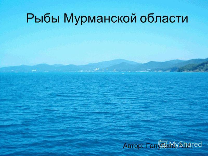 Рыбы Мурманской области Автор: Голубева А.М.
