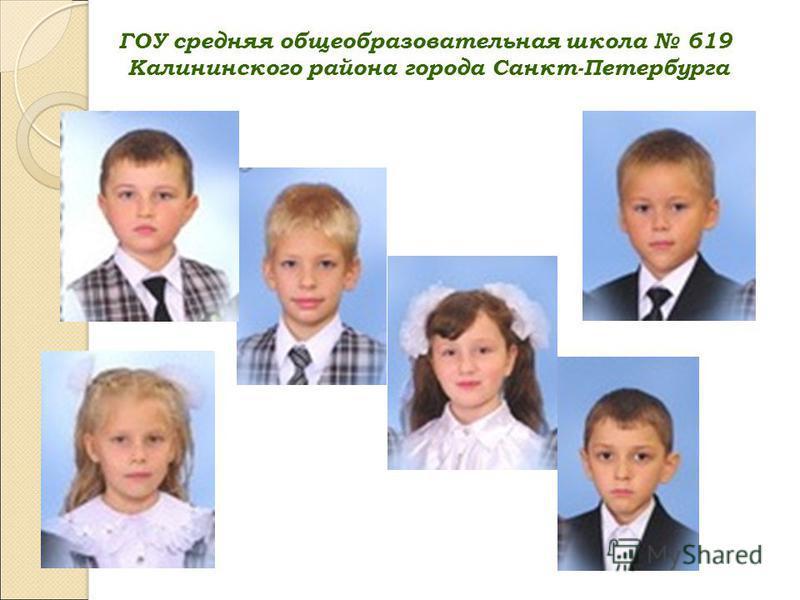 ГОУ средняя общеобразовательная школа 619 Калининского района города Санкт-Петербурга